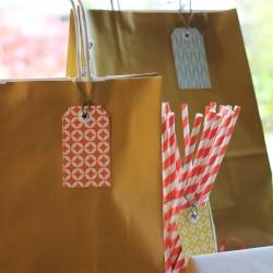 Lot de 6 étiquettes cadeaux