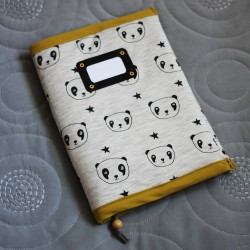 La couverture de carnet de naissance Panda Sweetie
