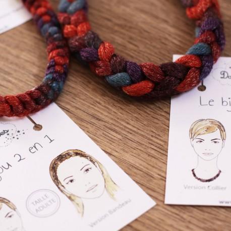 Le lot de 2  colliers/bandeaux pour un duo mère-fille